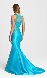 Image of two-piece mermaid-style prom gown by Madison James. Style: NM-16-433 Back Image