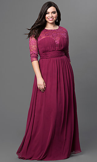 Long Sleeve Plus Size Evening, Cocktail Dresses
