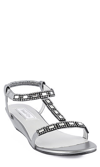 Jasz Beaded Sandal in Pewter