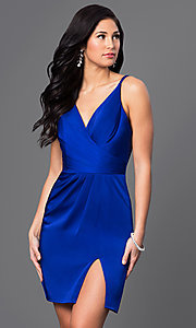 Image of v-neck backless Faviana short party dress Style: FA-7850 Detail Image 3