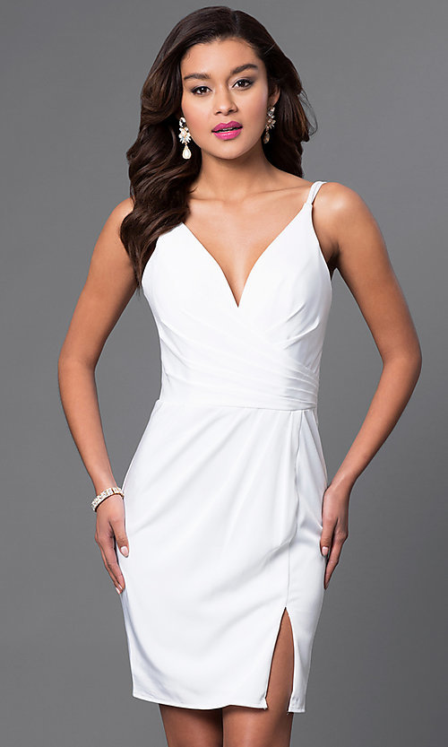 Image of v-neck backless Faviana short party dress Style: FA-7850 Detail Image 2