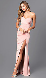 Image of Faviana floor-length strapless evening gown. Style: FA-7891 Front Image