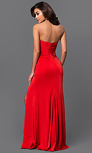 Image of Faviana floor-length strapless evening gown. Style: FA-7891 Back Image