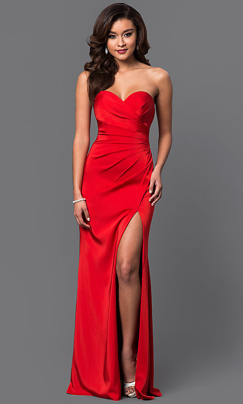 Image of Faviana floor-length strapless evening gown. Style: FA-7891 Detail Image 1