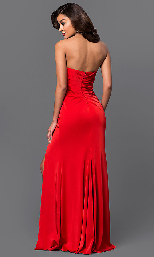 Faviana Floor-Length Strapless Evening Gown