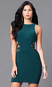 Image of Faviana short dress with cut-outs. Style: FA-7853 Detail Image 3