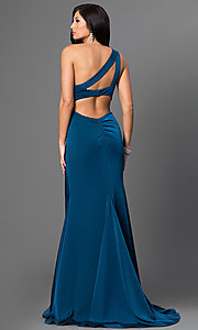 Image of Faviana floor-length one-shoulder gown.  Style: FA-7892 Back Image