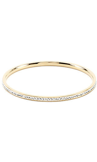 Gold Bangle with Cubic Zirconia