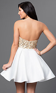Image of strapless Blush Exclusive homecoming party dress. Style: BL-PG024 Back Image
