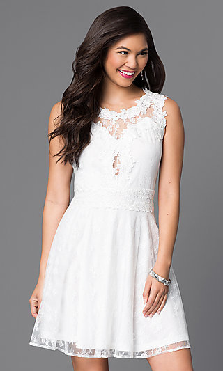 LWD - Little White Dresses, White Short Dresses
