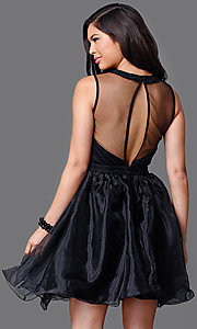 Image of sleeveless short sweetheart dress Style: CL-DI262 Back Image