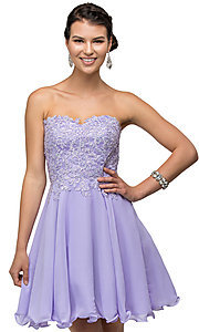 short corset back and lace bodice dress