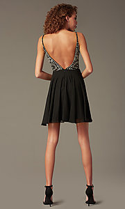Image of jewel-embellished short sweetheart homecoming dress. Style: JO-JVN-JVN47310 Detail Image 3