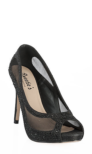 High Heel Peep Toe Kylie Pumps