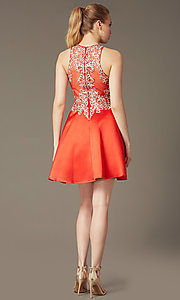 Image of homecoming party dress with embellished lace bodice. Style: FB-GS1442 Back Image