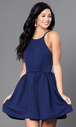 Navy Short Semi-Formal Dress