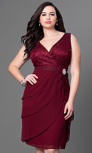 Elegant plus size evening cocktail dresses