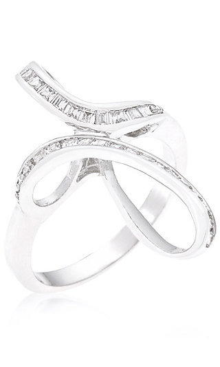 Cubic Zirconia Loop Ring