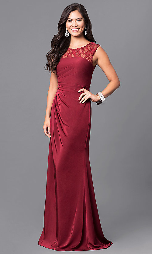 d03ec13a30b Milano Formals Red Floor Length Formal Prom Gown