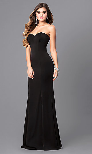 Cheap Long Strapless Mermaid Prom Dresses