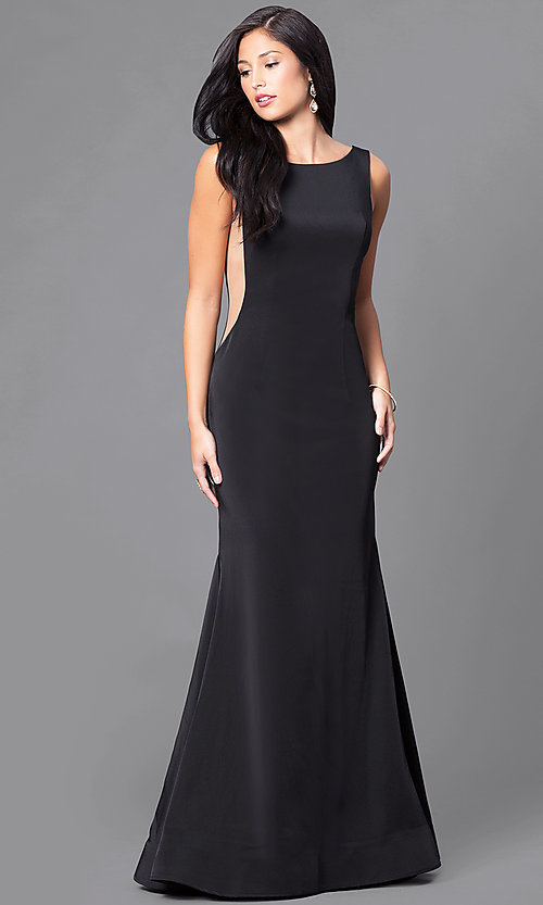 Image of sexy long black formal dress by Dave and Johnny. Style: DJ-A5177 Front Image