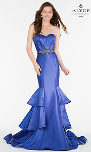 Image of Alyce strapless sweetheart long mermaid prom dress. Style: AL-A6734 Front Image