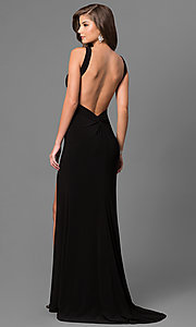 Image of long sweetheart formal dress with open back. Style: BL-IN-299 Back Image