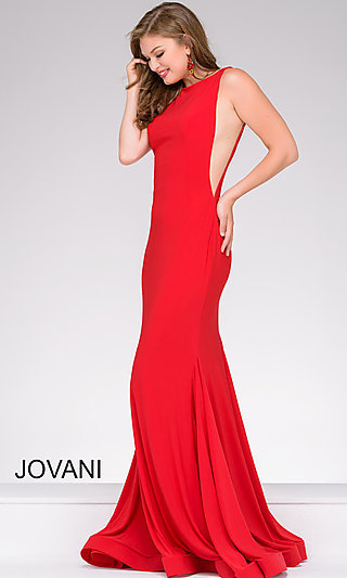 Jovani Long Open Back Prom Dress
