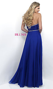 Image of strapless sweetheart formal prom dress by Blush. Style: BL-11342 Back Image