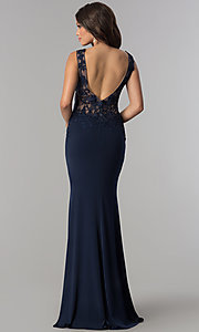 Image of JVNX by Jovani long military ball gown with lace. Style: JO-JVNX103 Detail Image 6
