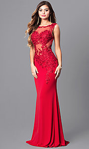 Image of JVNX by Jovani long military ball gown with lace. Style: JO-JVNX103 Front Image