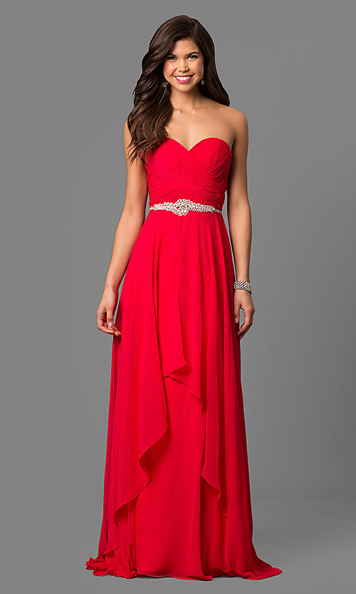 ebf35620b68d Alyce Long Ruched Chiffon Prom Dress