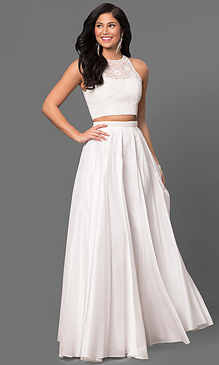 Sherri Hill Two-Piece Long Formal Prom Dress