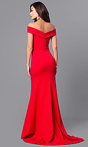 Image of off-the-shoulder Sherri Hill military ball dress.  Style: SH-50824 Detail Image 3