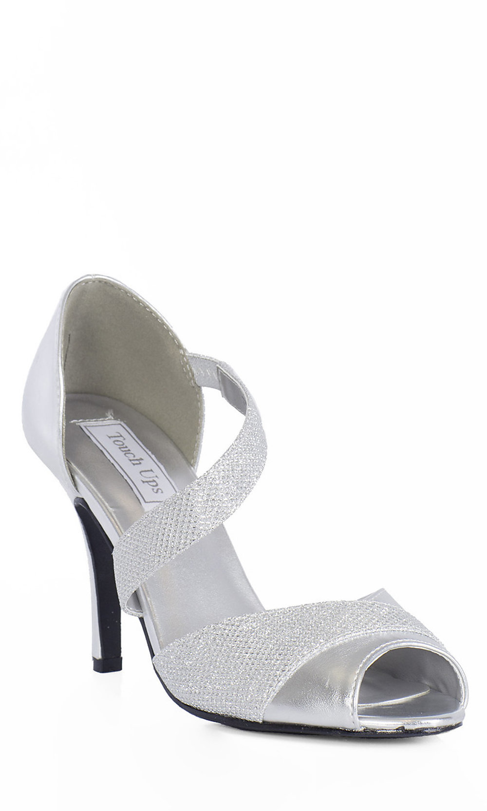3 Silver Metallic Adeline Prom Shoes