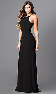 Image of formal Faviana floor-length prom dress with side straps.  Style: FA-S7913 Detail Image 2