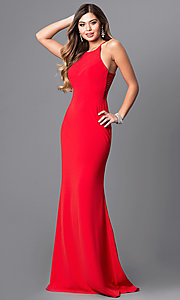 Image of formal Faviana floor-length prom dress with side straps.  Style: FA-S7913 Front Image