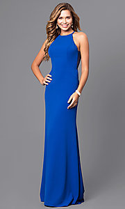 Image of formal Faviana floor-length prom dress with side straps.  Style: FA-S7913 Detail Image 1