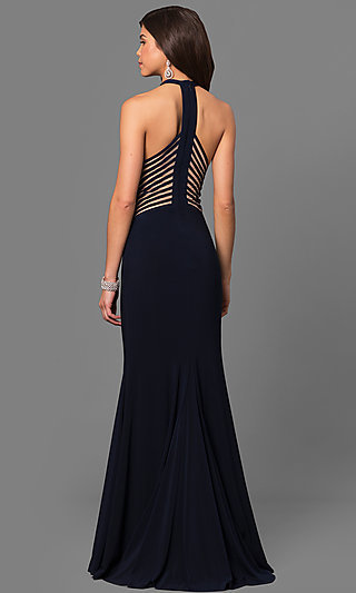 Long Faviana Sleeveless Formal Prom Dress