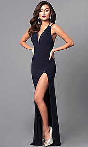 Image of multi-strap-back long formal dress by Faviana. Style: FA-7920 Detail Image 1