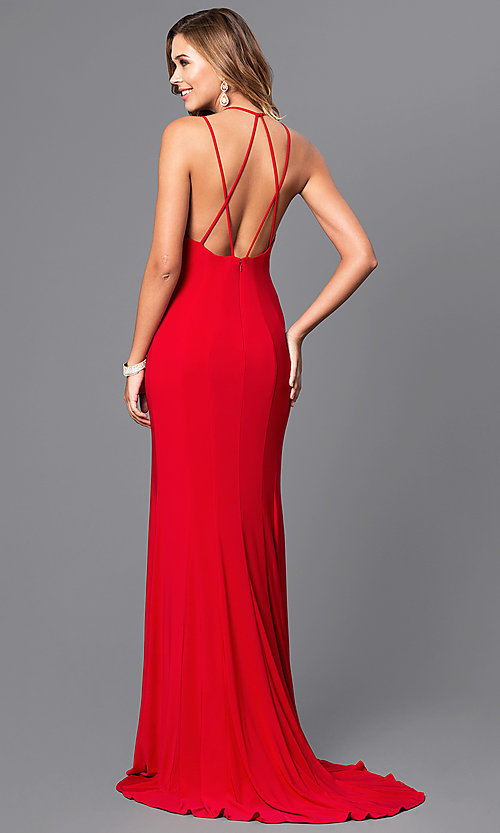Image of multi-strap-back long formal dress by Faviana. Style: FA-7920 Front Image