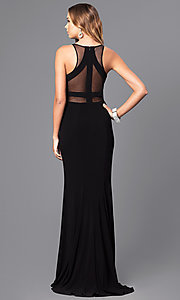 Image of Faviana long formal prom dress with sheer midriff. Style: FA-7921 Detail Image 2