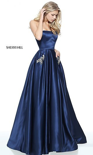 Long Sherri Hill Ball Gown Style Prom Dress