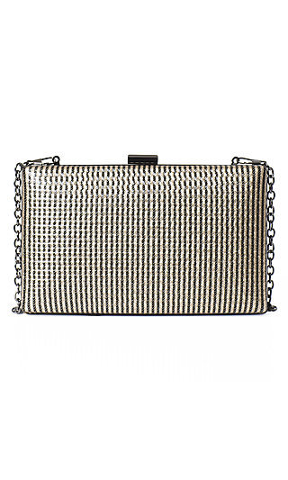 Removable Chain Gold Clutch