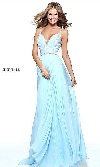 Light Green Sherri Hill Dress