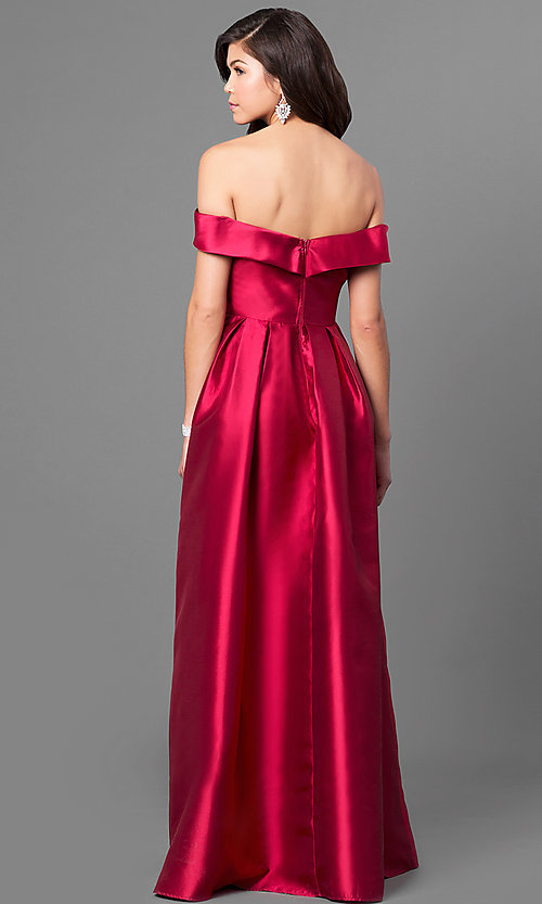 Long Formal Prom Dress With Off The Shoulder Bodice