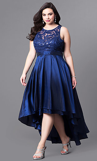 Plus Size Knee Length Prom Dresses