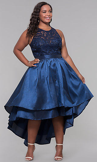 9e113496b0 Plus-Size Cocktail Dresses, Short Plus Party Dresses