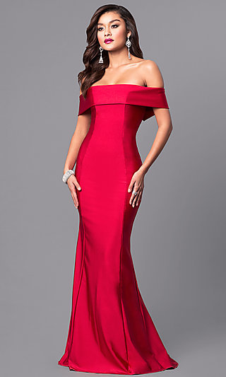 Sexy Long Strapless Fitted Prom Dresses