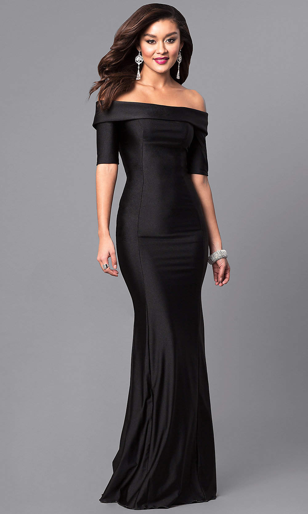 Long Prom Dress with Sleeves